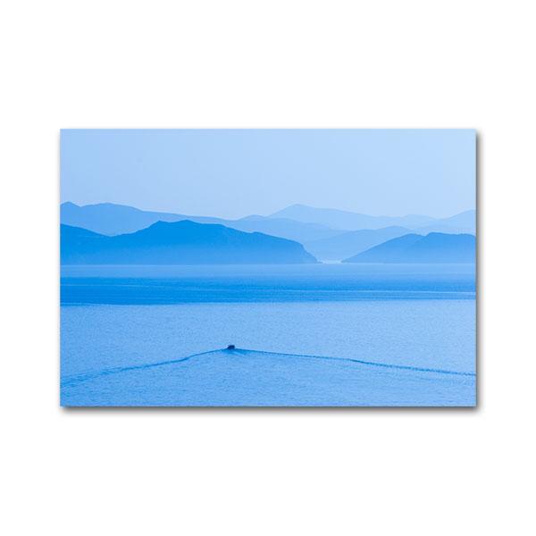 A boat sailing at the Argolic Gulf near Astros, Arcadia, Peloponnese