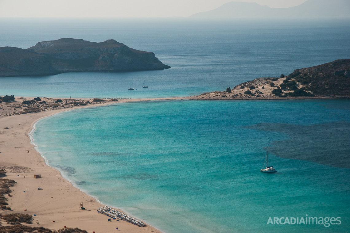 Simos beach (Fragos & Sarakiniko) at Elafonisos island. Laconia, Peloponnese, Greece