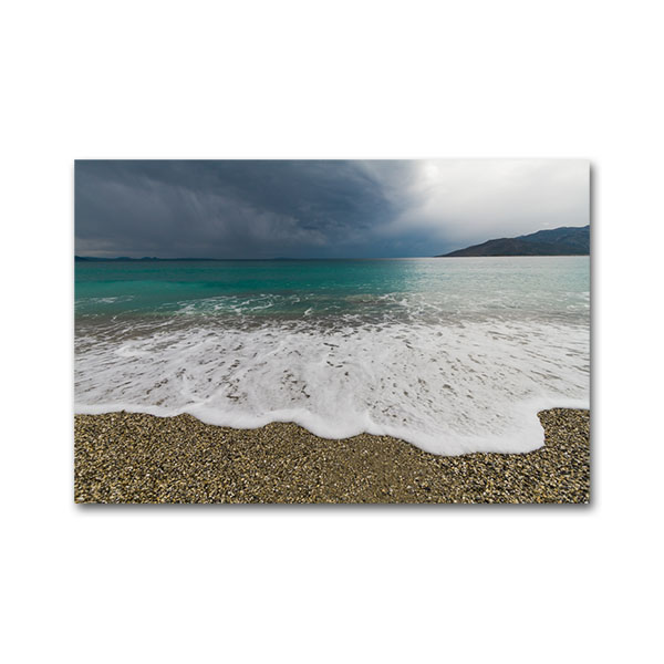 Astros beach in stormy weather. Arcadia, Peloponnese, Greece