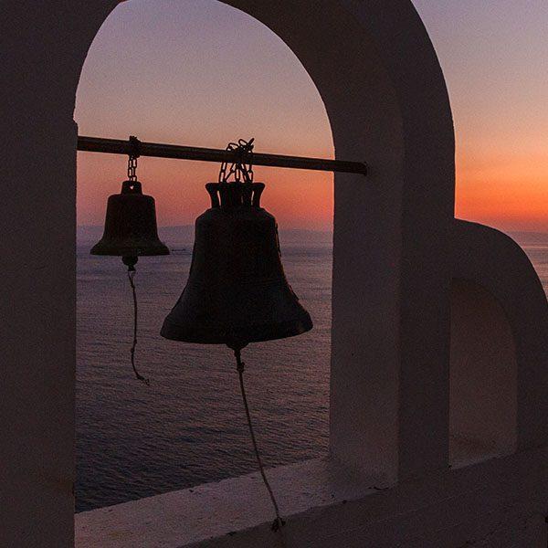 The bell tower at Aghia Eirini (Saint Irene) monastery. Cape Malea, Laconia, Peloponnese
